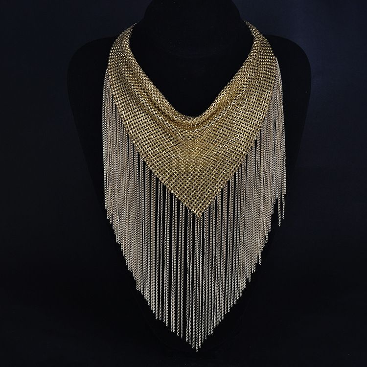 2015 New high end gorgeous tassel necklaces fashion long chain necklace big brand women necklace-in Chain Necklaces from Jewelry on Aliexpress.com | Alibaba Group