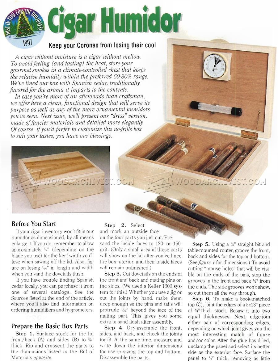 389 Cigar Humidor Plans Other Woodworking Plans And Projects  # Muebles Humidores Para Puros