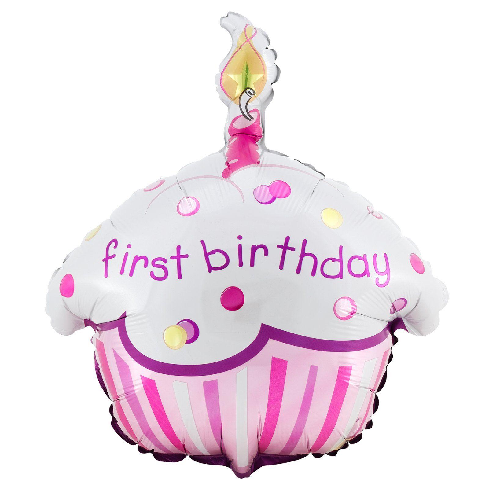 Girl's Lil' Cupcake 1st Birthday Foil Balloon