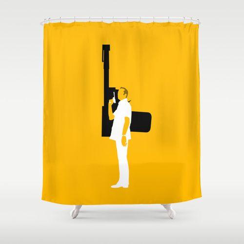 FRANCISCO SCARAMANGA Shower Curtain @ http://society6.com/vectorvectoria/francisco-scaramanga_shower-curtain#35=287