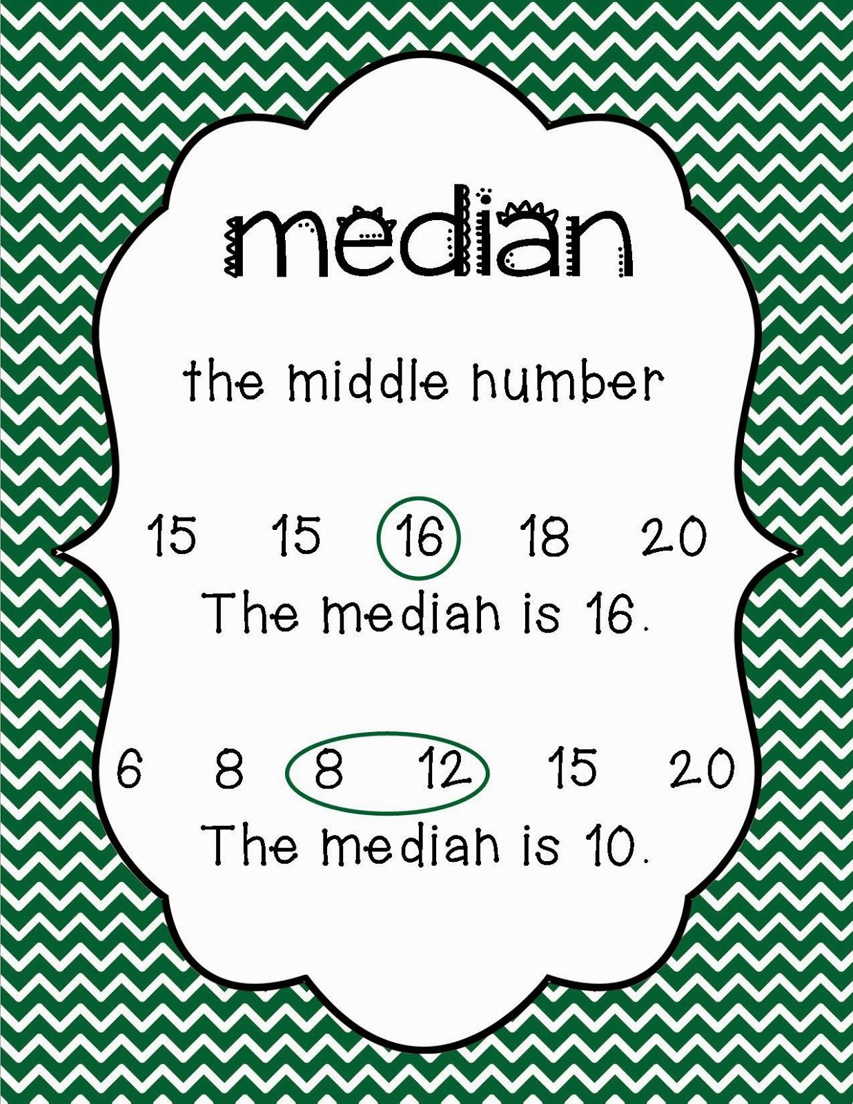 Mean Mode Median And Range Posters With Images