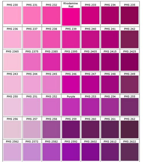 Pantone Pink Pink Perfection Pinterest Pantone - cmyk color chart