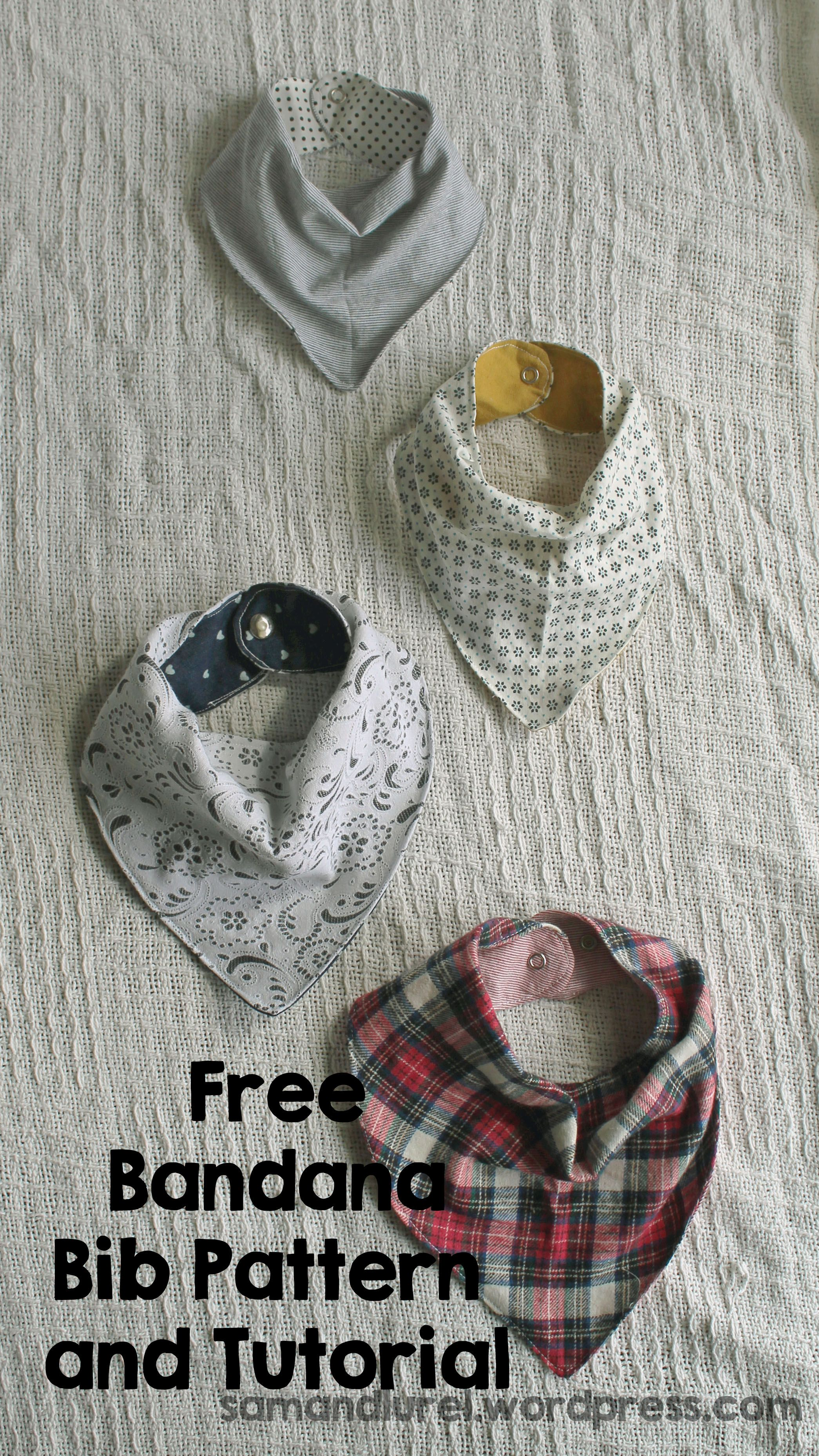 Free Bandana Bib Pattern | Pinterest | Cowboys, Bandana bib and Bandanas