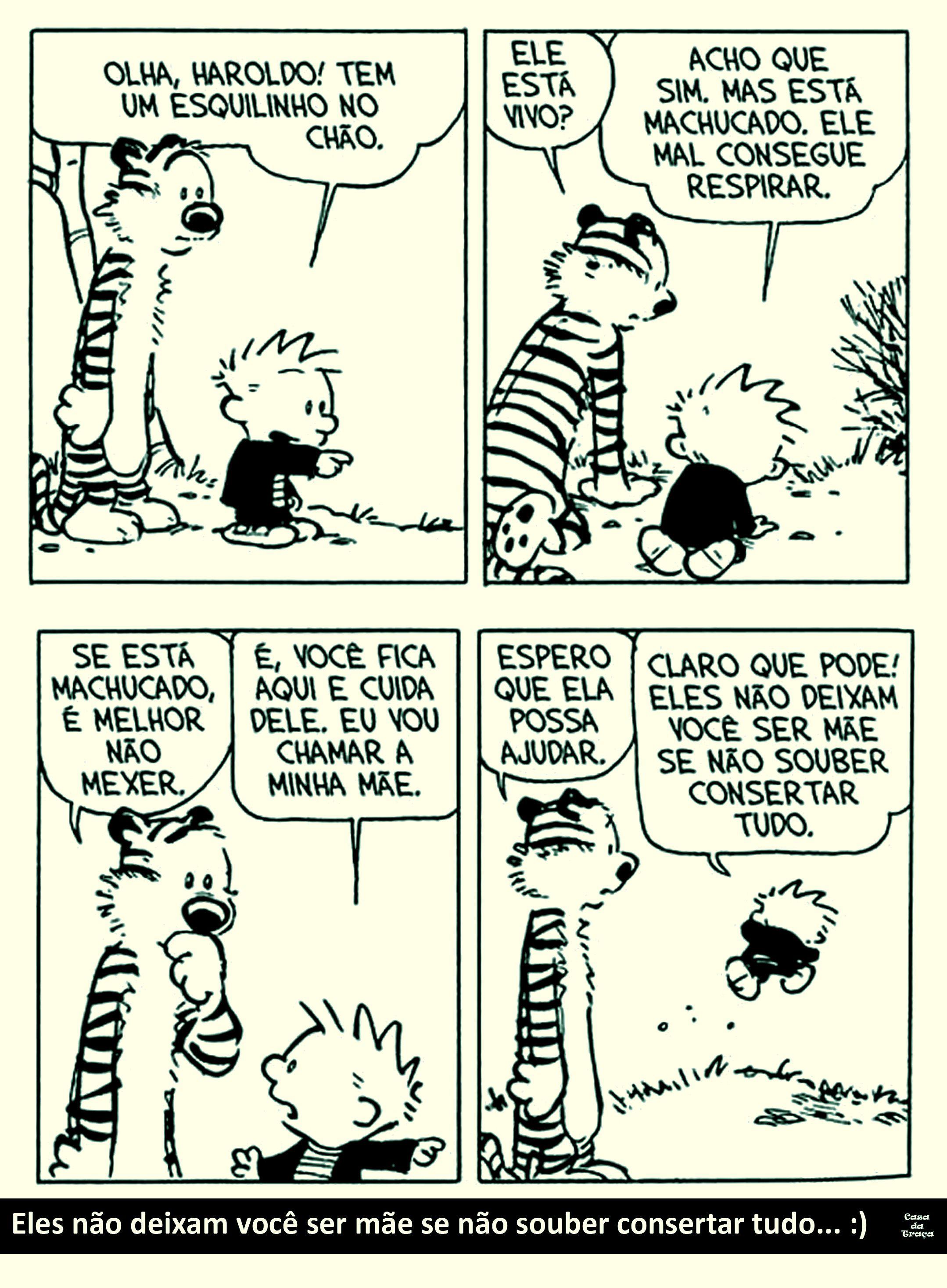 Calvin e Haroldo. A verdade sobre as mães :)   Deposito de ...