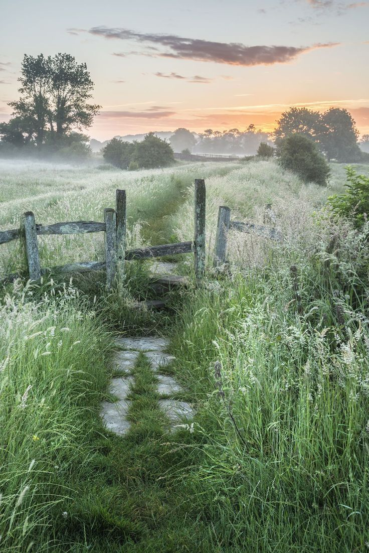 Photo of Stunning vibrant Summer sunrise over English countryside landscape