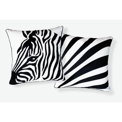 Naked Decor Zebra Pillow