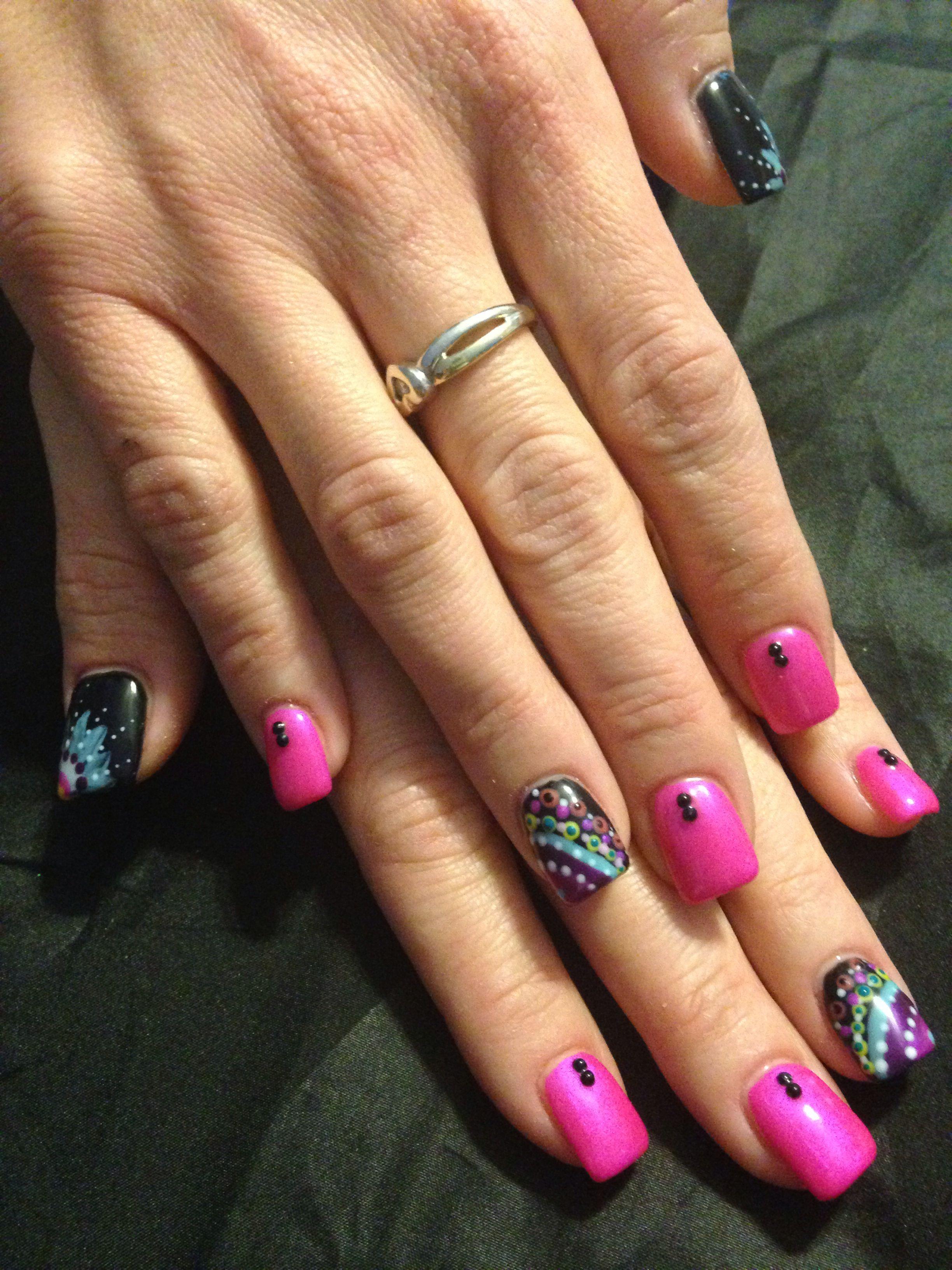 Acrylic nails with gel design nail polish designs gel