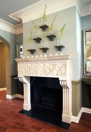 Verona Cast Stone Fireplace Mantel Mantels