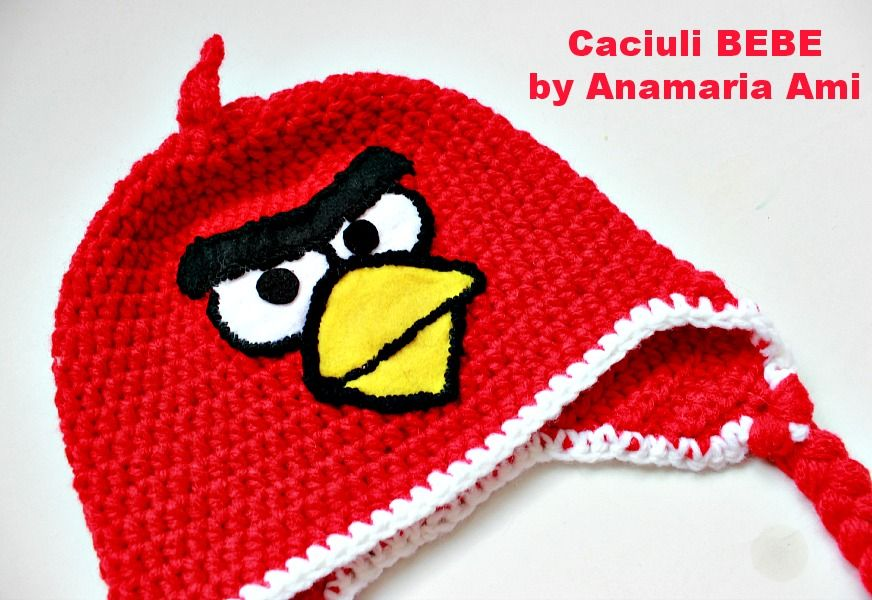 Crochet Hat Pattern Angry Bird : crochet hat angry birds red https://www.facebook.com/pages ...