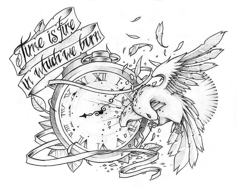 diseños de los tatuajes tiempo
