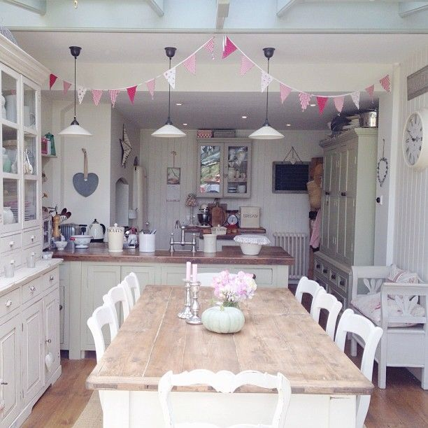 image result for how to decorate a shabby chic kitchen diner home rh pinterest com Shabby Chic Decorating Style Shabby Chic Wall Decor