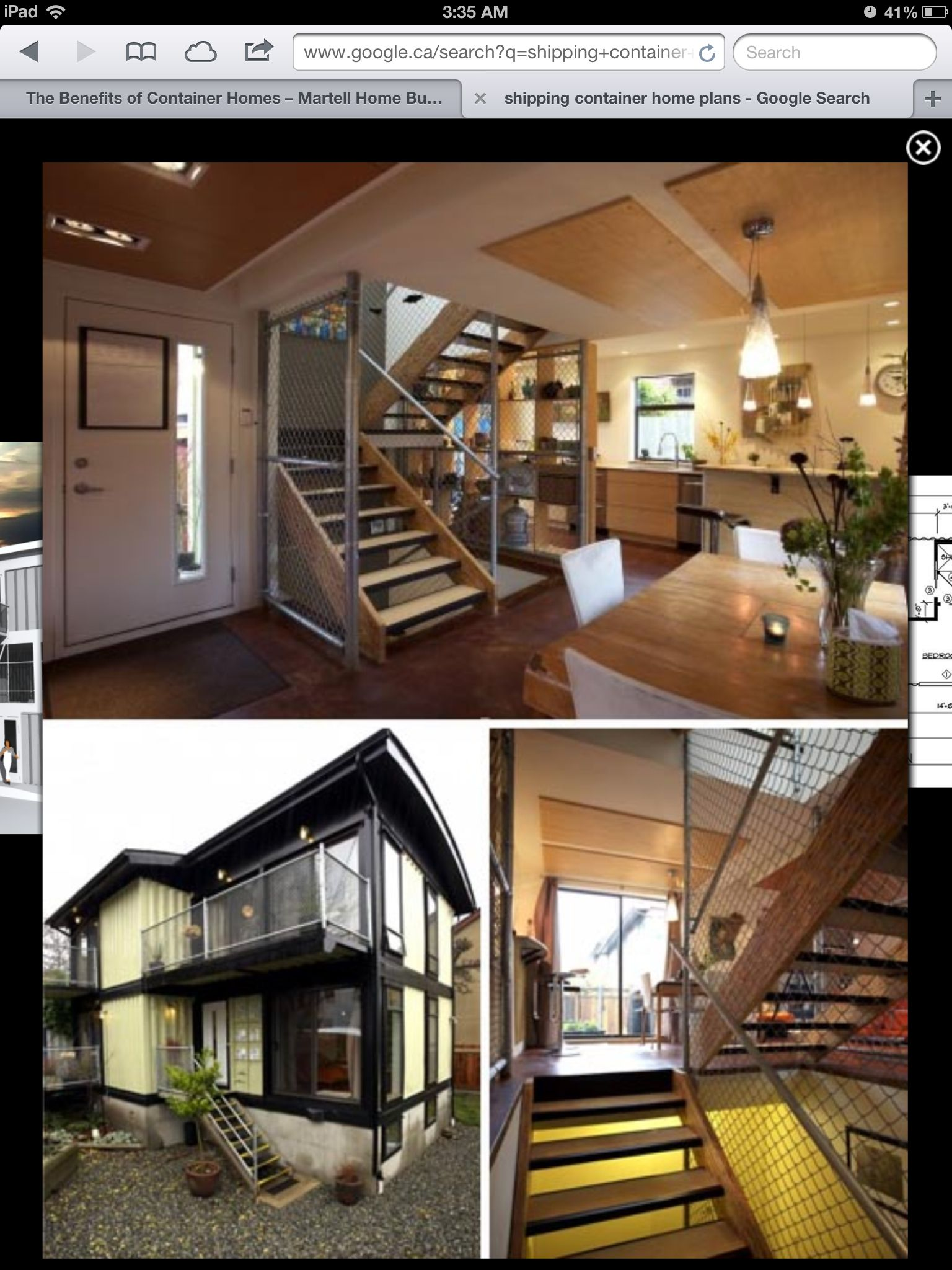 Photo composite of a town house complex made from recycled shipping  containers.