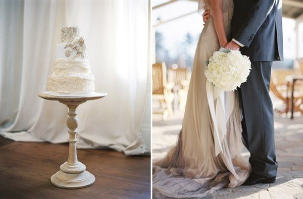 love the cake, love the bouquet! august-rush