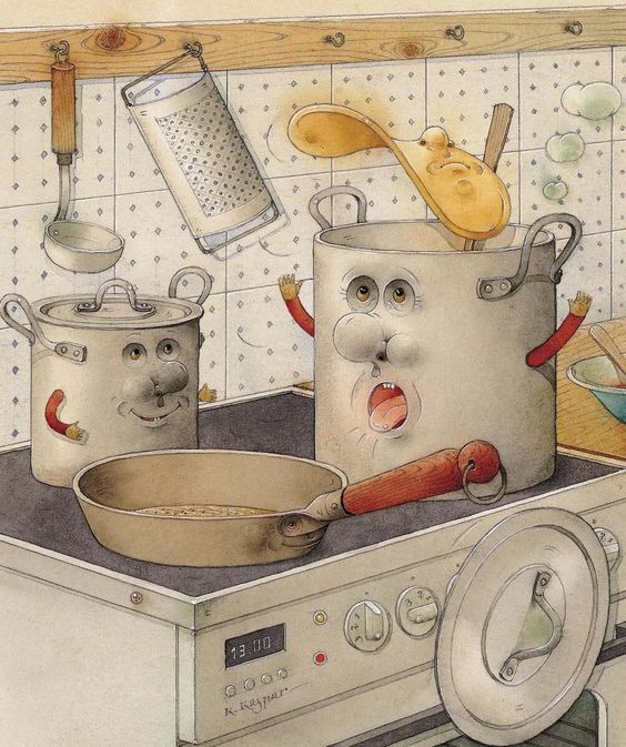 Картинки по запросу great big canvas kestutis kasparavicius poster print entitled on the kitchen range, 2003,