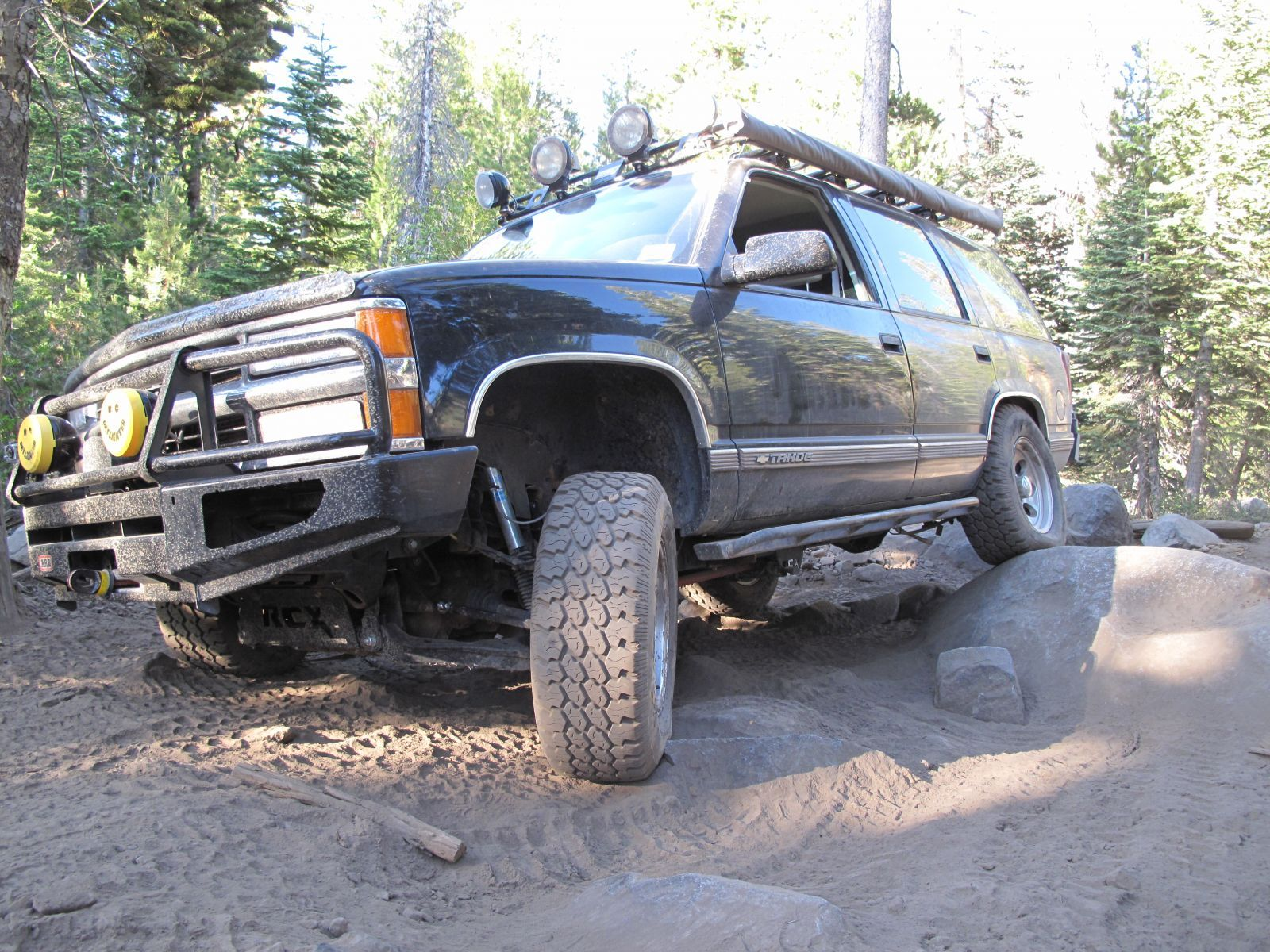O3E Chevy Tahoe on the Rubicon Trail in California | GMC4x4