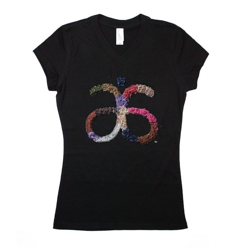 Arbonne Juniors 'Powder Bar' Black Vneck T #dsaccess #arbonne #apparel #arbonneshirt #tshirt