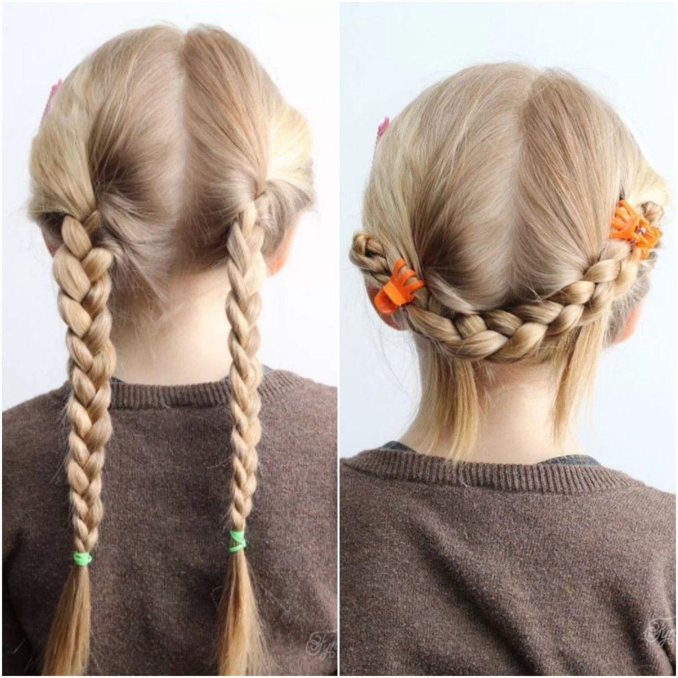 Give basic braids an upgrade with this fiveminute school day style