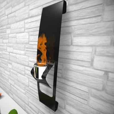 Decorpro Ark Steel Bio Ethanol Outdoor Fireplace Wayfair Wall Mounted