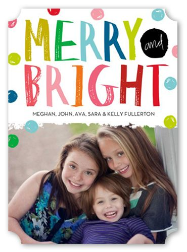 Merry And Bright Dots 5x7 Stationery Card by Stacy Claire Boyd
