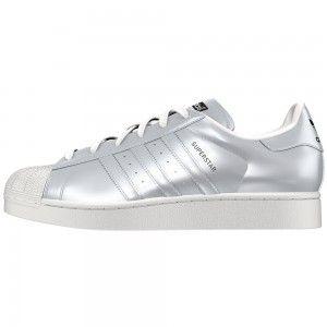 adidas Superstar W Damen Sneaker silber weiß – Bild 1