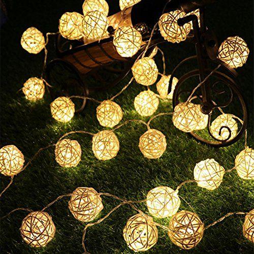 Haosen 20led 48m Getrocknete Blume Ball Solar Lichterkette Led