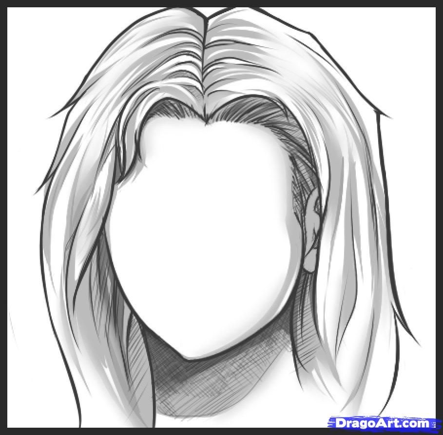 How to Draw Long Hair, Step by Step, Hair, People, FREE Online ...
