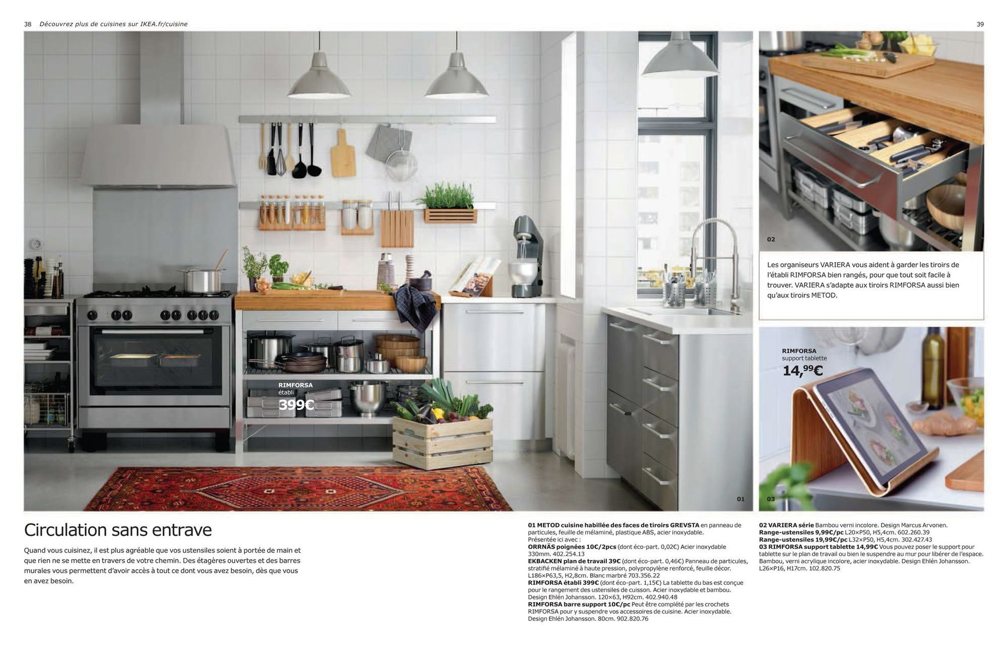 Metod Kitchen Dressed With Grevsta Drawer Fronts In Particle Board