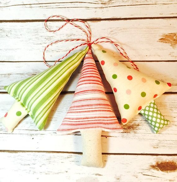 Set of 3 Christmas Tree Ornaments by littlestitchstudio1 on Etsy littlestitchstudio1.etsy.com