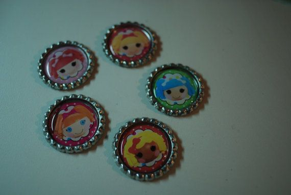 Set of 5 La La Loopsy Doll Caps for Hairbows by Ribbonology, $6.00