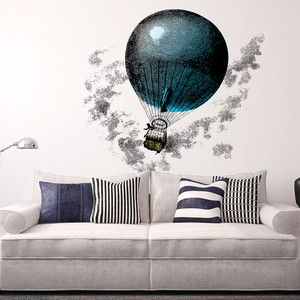 Aerostatic Balloon Wall Sticker, 41€,  by Chispum !!