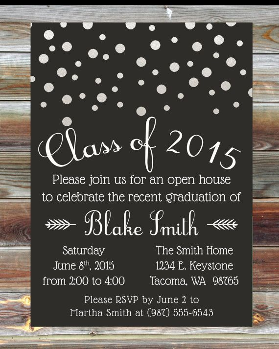 Custom color graduation open house invitation champagne grad party custom color graduation open house invitation champagne grad party invite college high school grad party bubbles graduation invitation party filmwisefo Image collections