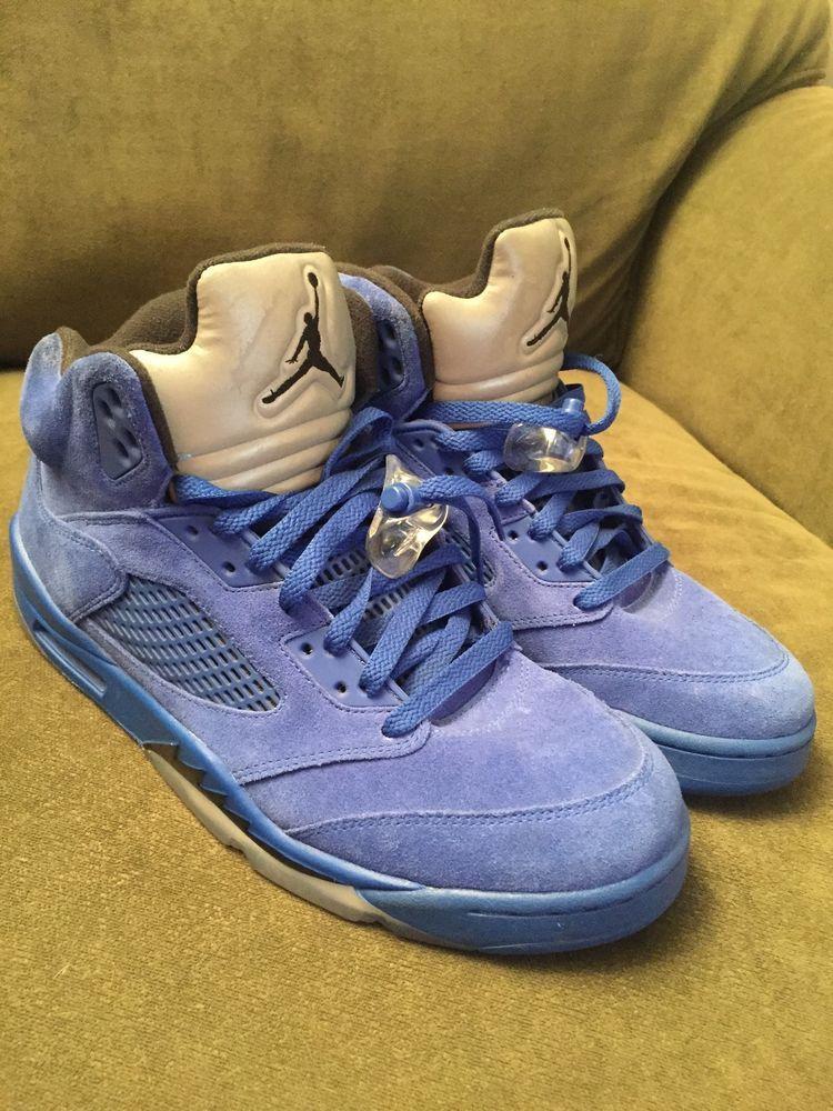 6357a1556e54 Nike Air Jordan V Retro 5 Blue Suede Game Royal Size 10.5  fashion   clothing  shoes  accessories  mensshoes  athleticshoes (ebay link)