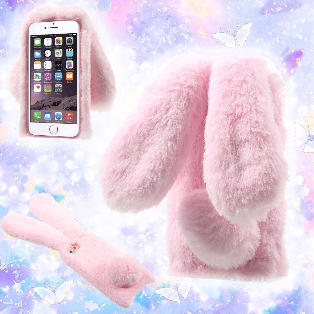 Coque fourrure iPhone 6s / 6 Bunny Case - Rose   Iphone cases cute ...