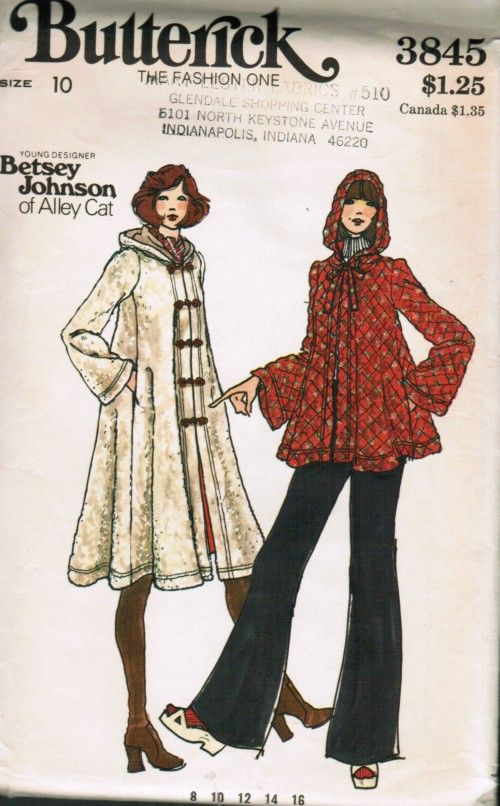 Betsey Johnson for Alley Cat jacket or coat, early 1970s