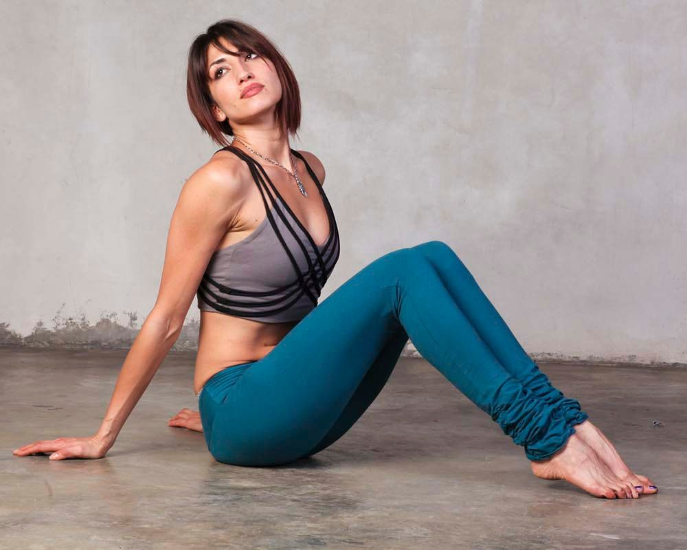 Tied up yoga pants-3396