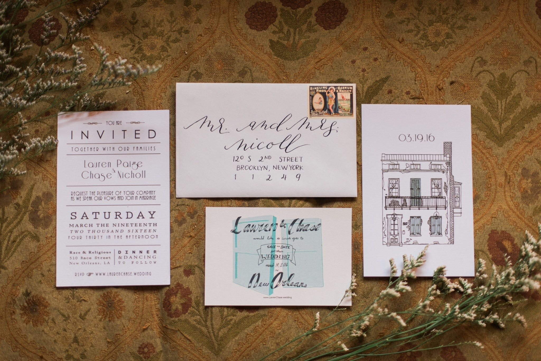 Wedding invitation | New Orleans | Race and Religious | Wedding ...