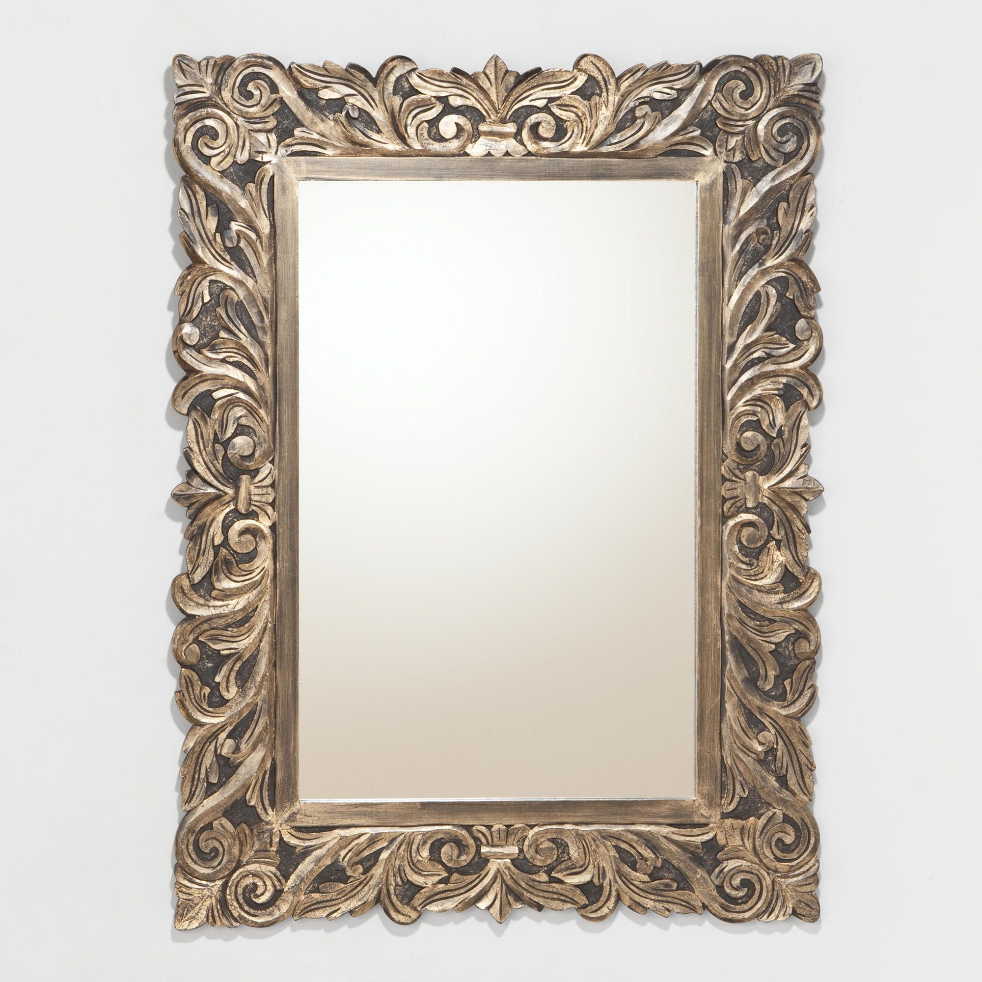 For the downstairs bathroom?? Brielle Carved Mirror | World Market