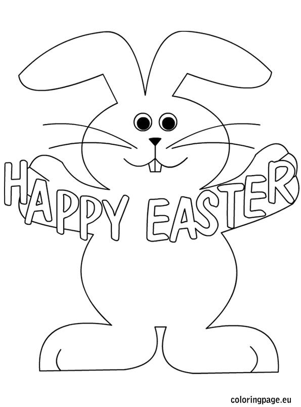 Happy Easter Coloring Pages Happy Easter Rabbit