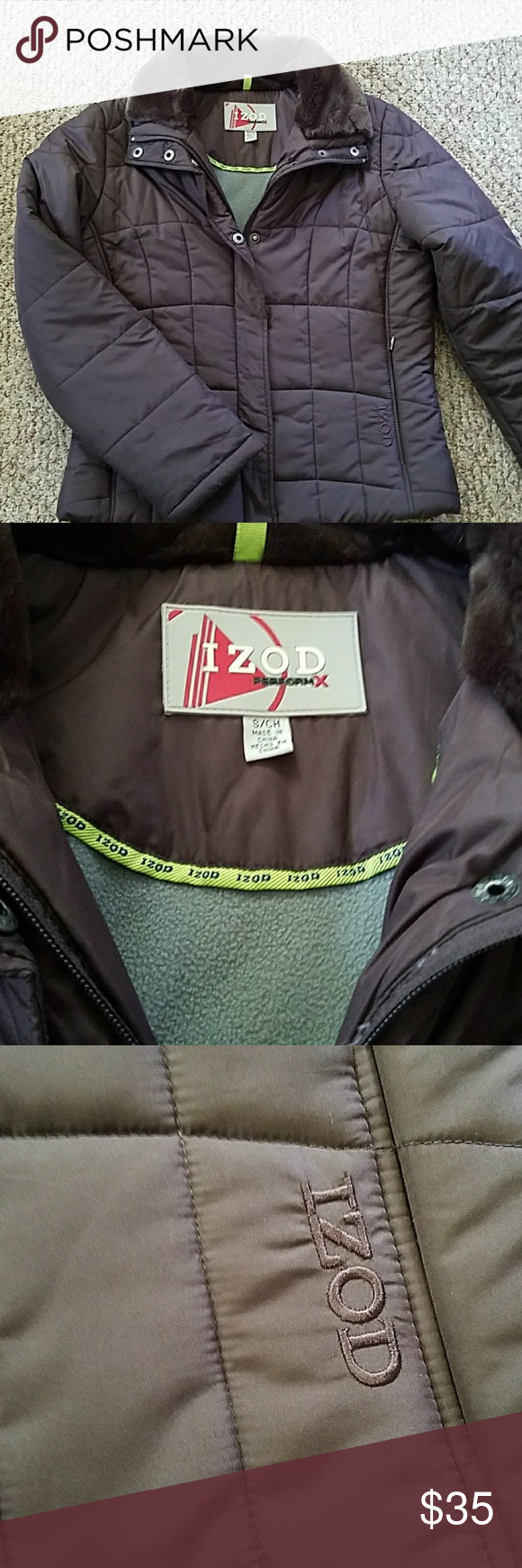 Ladies Izod Winter Coat Small Excellent Condition Izod Jackets Coats Puffers Clothes Design Fashion Design Women Shopping [ 1740 x 580 Pixel ]