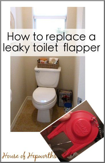 How to replace a leaky toilet flapper. Tutorial at houseofhepworths.com