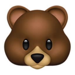 The Bear Face Emoji On Iemoji Com In 2021 Bear Emoji Emoji Emoji Images