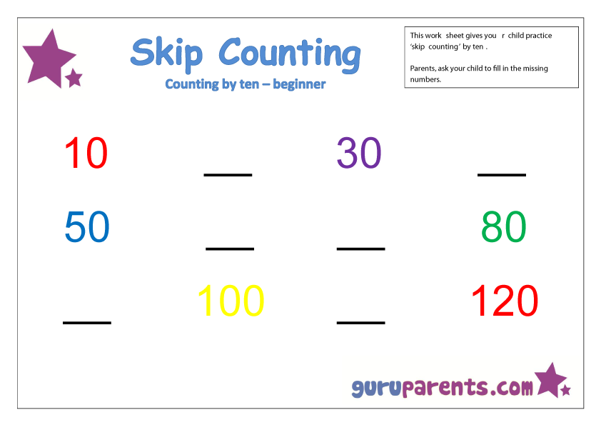 Skip Counting by ten beginner | Afterschool/Camp StudyTime K-5 ...