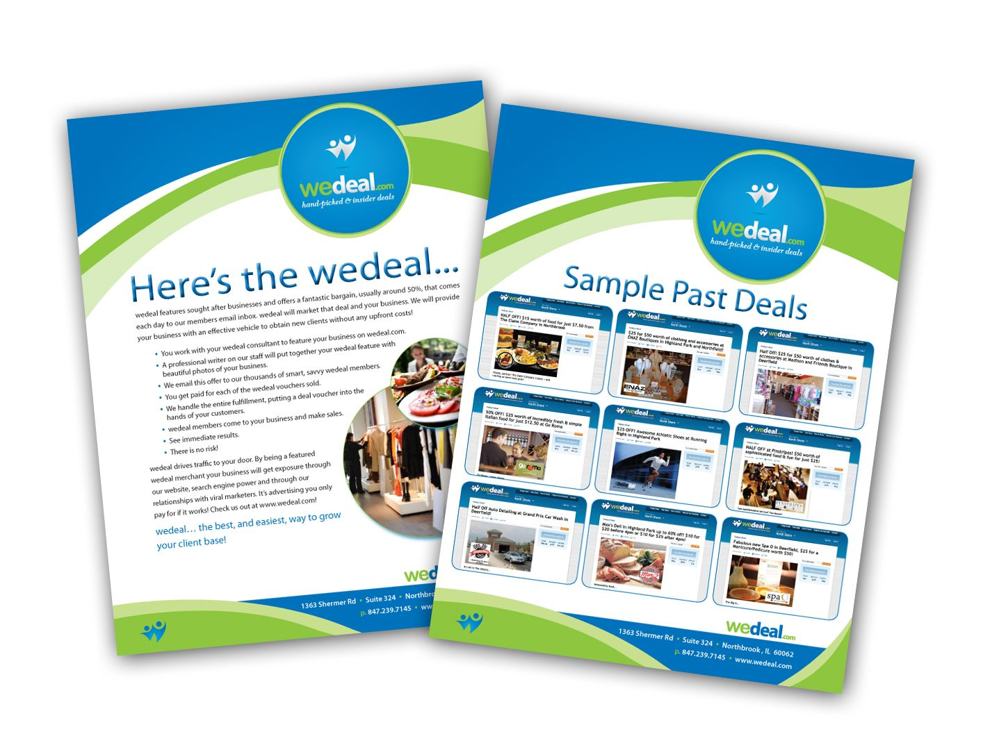 Wedeal  Sell Sheet Design  Ali Gordon Designs  Corporate