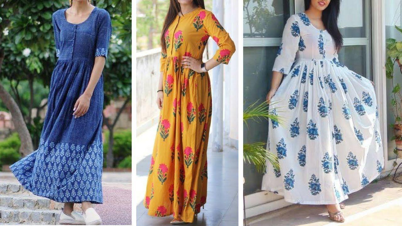 Maxi Dresses Indian Style Cotton Long Dresses Maxi Dresses Summers Indian Fashion Trends Fashion Simple Dresses [ 720 x 1280 Pixel ]