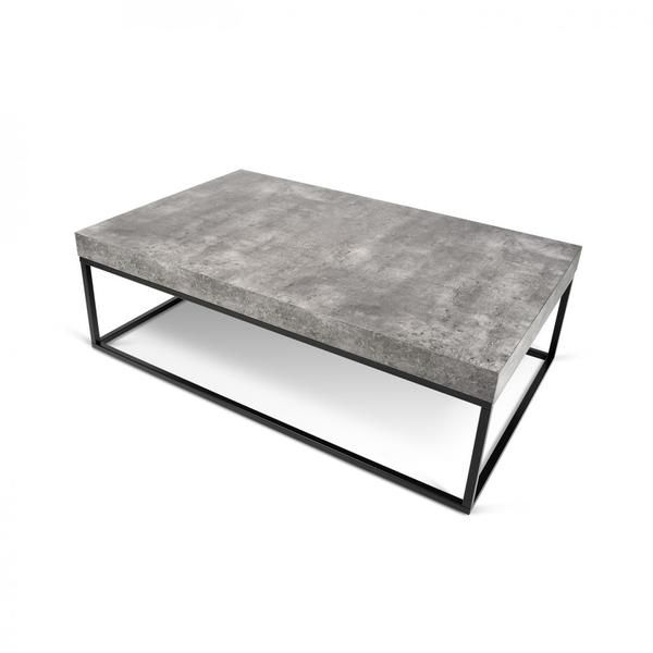 Buy Temahome 9500 625138 Petra Faux Concrete Coffee Table Top Black Legs Coffee Table Rectangle Concrete Coffee Table Modern Coffee Tables