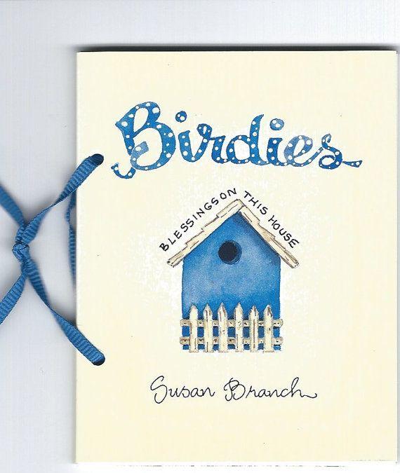 "Vintage Susan Branch Birthday Mini Book ""Birdies"" W/Ribbon"