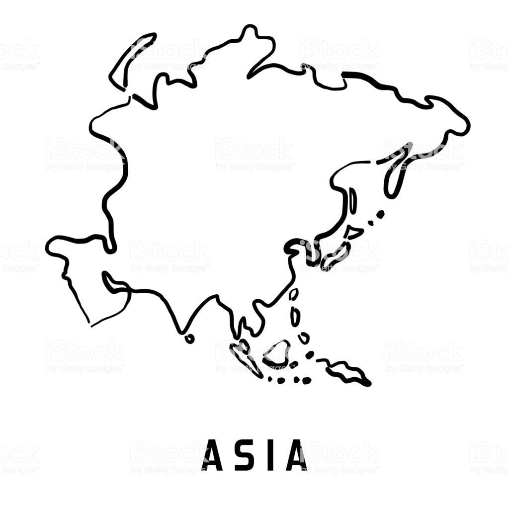 Elaborated Asia Continent Map Drawing Asia Pacific Map