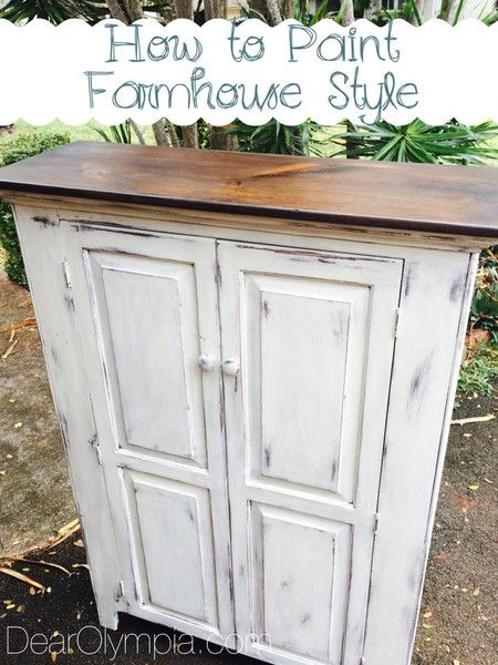 farmhouse style furniture. How To Paint A Farmhouse Style Piece Of Furniture Using Cece Caldwells Natural Chalk + Clay R