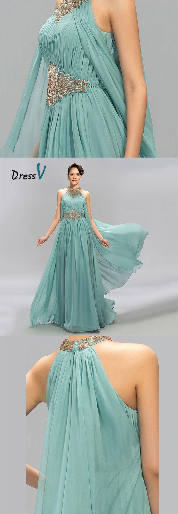 Feel like the aqua goddess herself. Olympus inspired teal prom ...