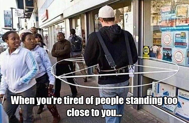 Personal Space Protector I Need One Lolsnaps Funny Photos Funny Pictures Tired Of People